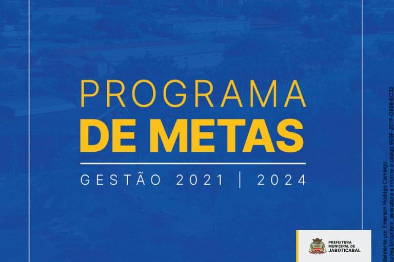 Câmara de Jaboticabal recebe Programa de Metas 2021-2024 da Prefeitura Municipal
