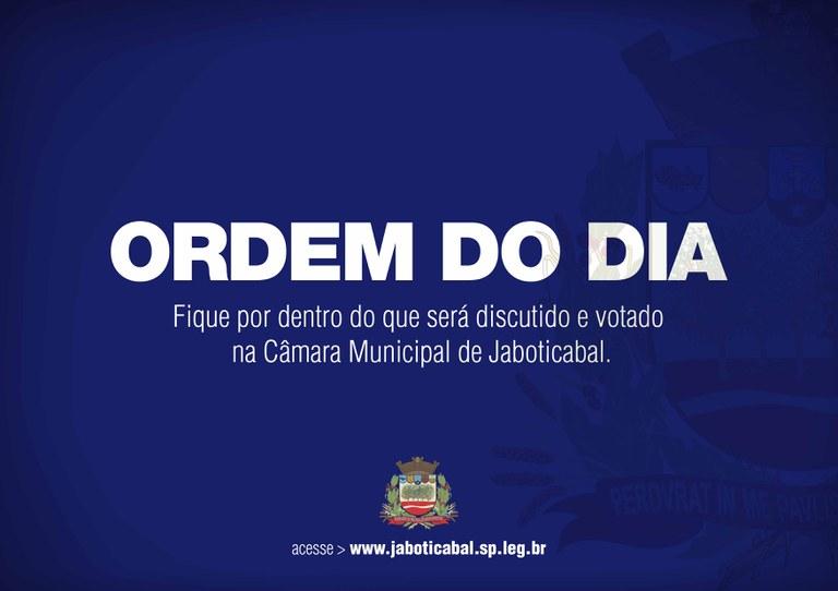 Sessão ordinária: Câmara de Jaboticabal vota três projetos na segunda-feira (04/05)